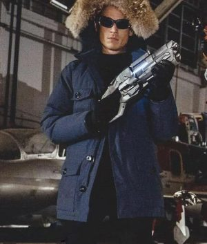 Wentworth Miller Captain Cold Blue Fur Jacket