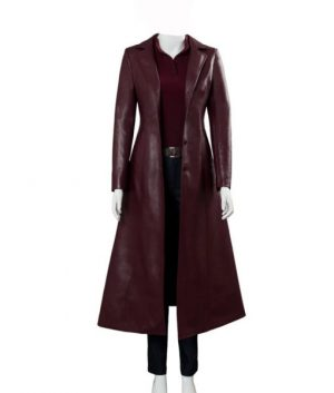 Dark Phoenix Sophie Turner Jean Grey Leather Coat
