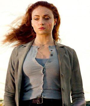 X-Men Dark Phoenix Sophie Turner Jean Grey Cotton Coat