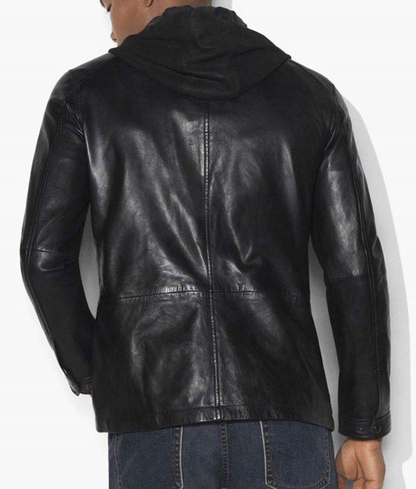 Arrow S6E17 David Ramsey Leather Hooded Diggle Jacket