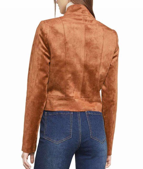 Dinah Drake Arrow S6E17 Suede Leather Jacket
