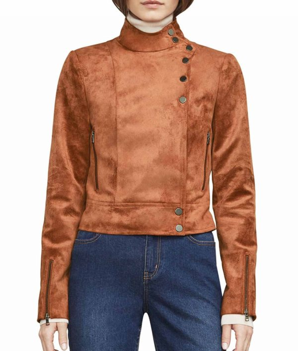 Dinah Drake Arrow S6E17 Suede Jacket