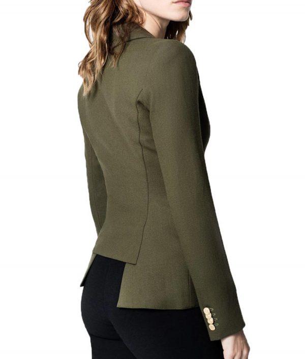 Arrow Season 4 Juliana Harkavy Dinah Drake Green Blazer
