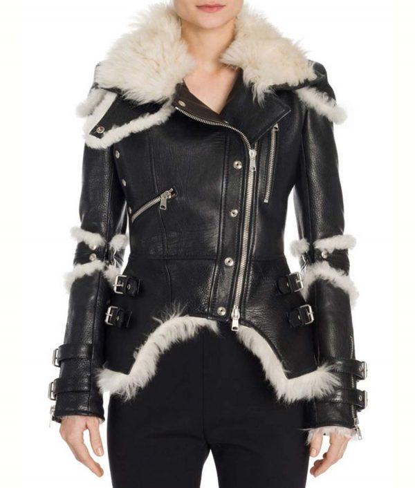 Elisa Black Leather Jacket