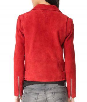 Emma Swan Suede Leather Biker Jacket