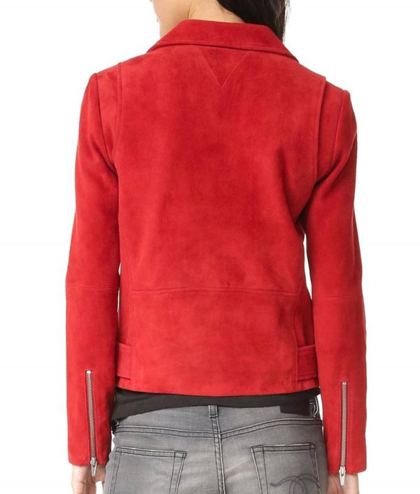Emma Swan Suede Leather Biker Jacket