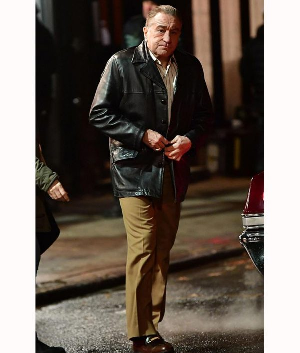 Robert De Niro The Irishman Frank Sheeran Leather Blazer