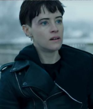 Claire Foy Girl In The Spider Web Biker Jacket