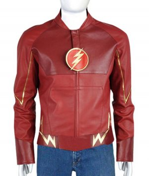 The Flash Barry Allen Red Leather Jacket