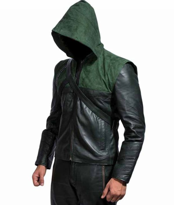 Green Arrow Hooded Jacket