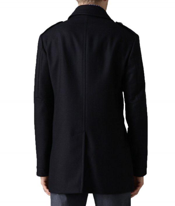 John Diggle Navy Blue Wool Jacket