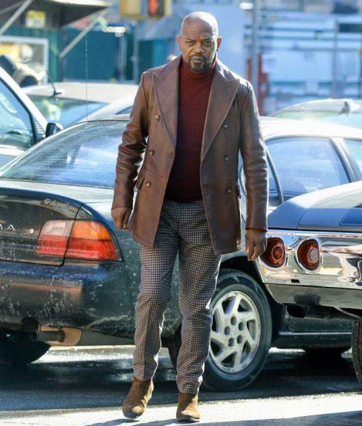 John Shaft 2019 Samuel L. Jackson Leather Blazer