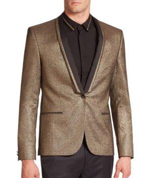 Suicide Squad Jared Leto Joker Golden Tuxedo Jacket