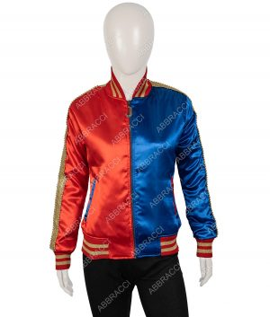 Harley Quinn Suicide Squad Property of Joker Satin Jacket