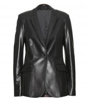 Natasha Romanoff C.A The Winter Soldier Leather Blazer