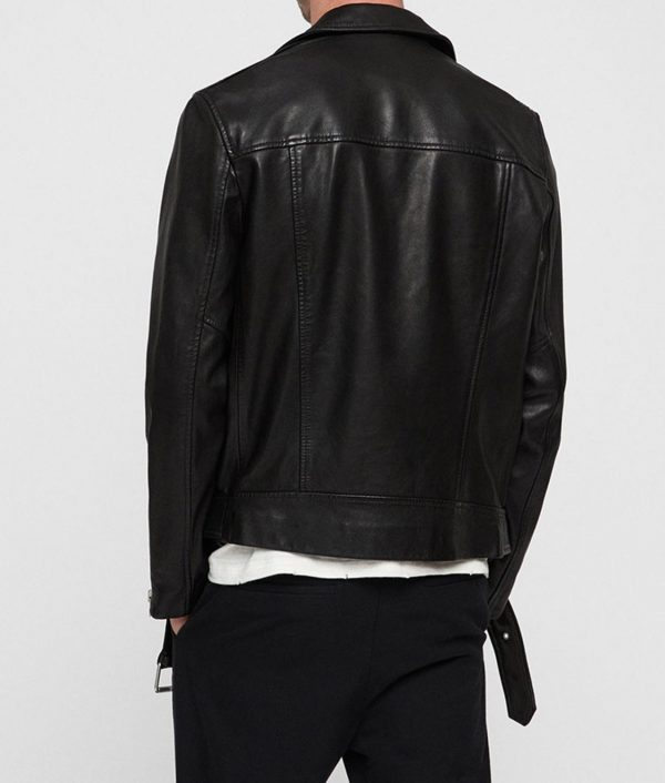 Oliver Queen Arrow Elseworlds Black Leather Biker Jacket