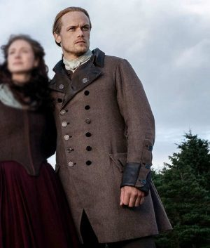 Outlander S05 Ep04 Sam Heughan Jamie Fraser Double Breasted Coat