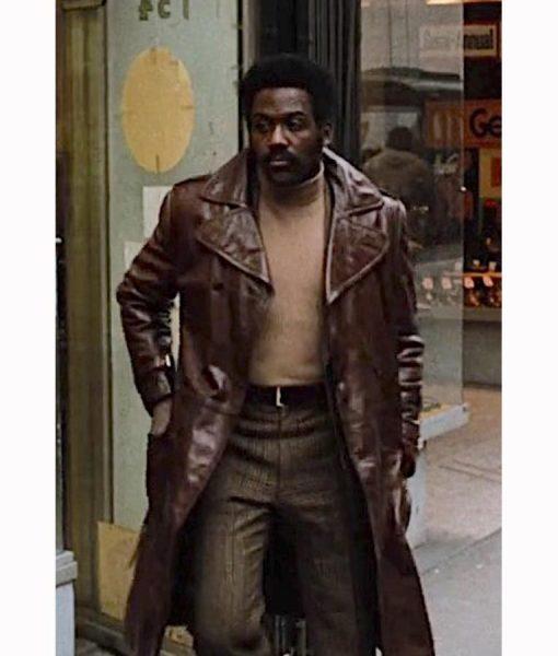 John Shaft 1971 Brown Leather Coat