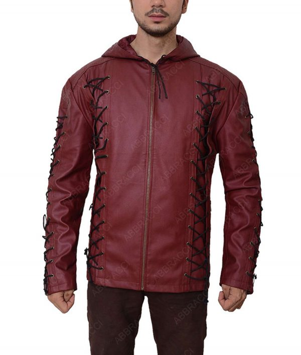Roy Harper Red Arrow Arsenal Leather Jacket