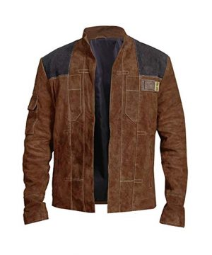 Solo A Star Wars Story Han Solo Alden Ehrenreich Suede Leather Jacket