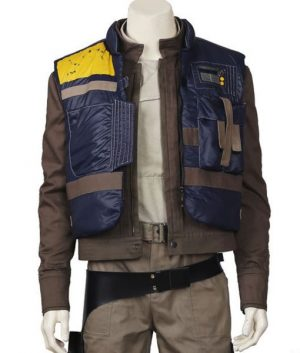 Rogue One A Star Wars Story Diego Luna Captain Cassian Andor Pilot Blue Vest
