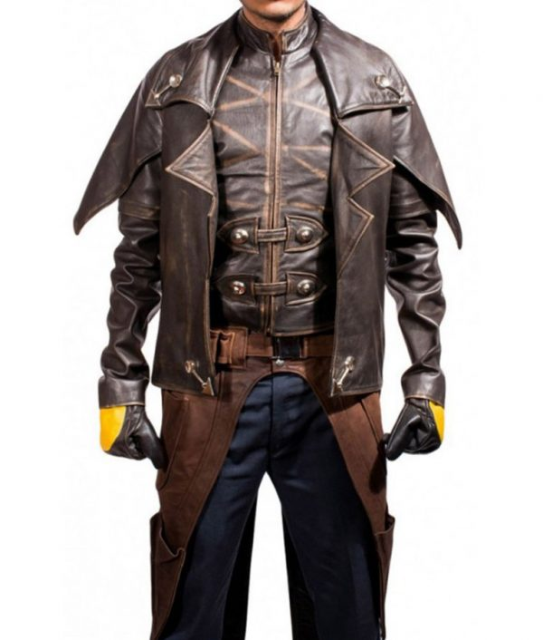Star Wars The Clone Wars Season 07 Cad Bane Distressed Leather Jacket