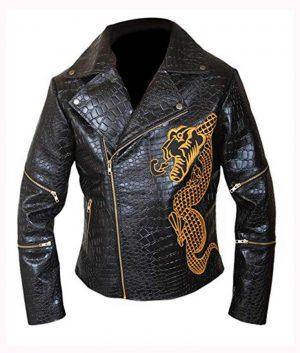 Killer Croc Suicide Squad Waylon Jones Double Rider Leather Jacket