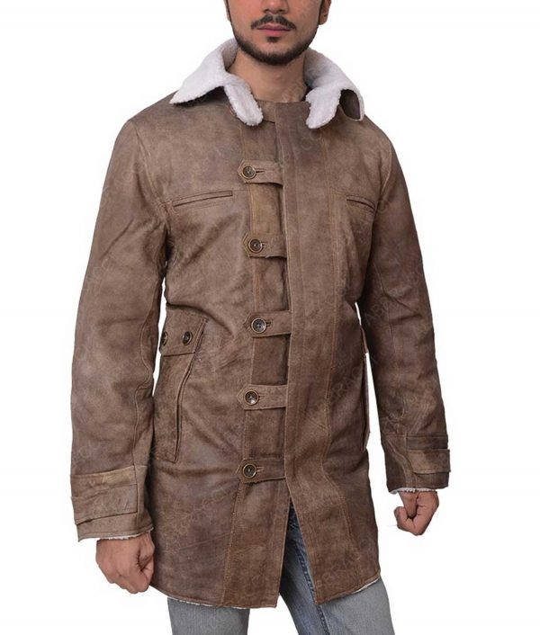 The Dark Knight Rises Bane Fur Leather Coat