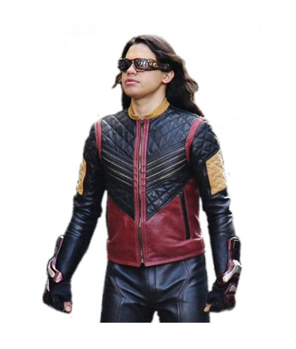 The Flash Carlos Valdes Vibe Leather Jacket