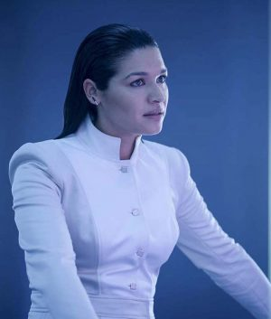 The Flash Kim Engelbrecht The Mechanic White Trench Jacket