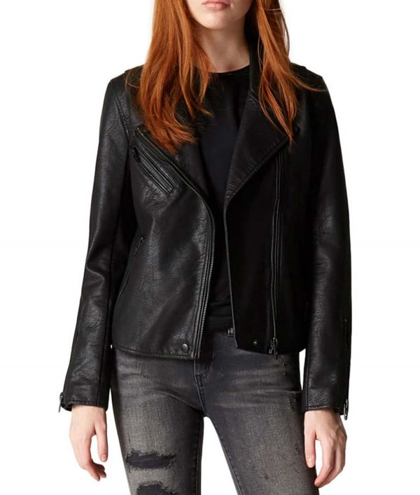 The Flash Nora West-Allen Black Leather Jacket