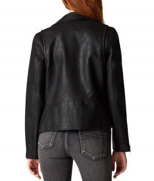 The Flash Season 05 Nora West-Allen Black Leather Jacket