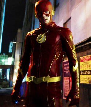 New The Future Flash Season 3 Golden Detail Leather Jacket