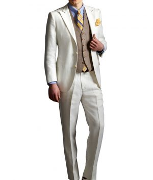 The Great Gatsby Off White Suit