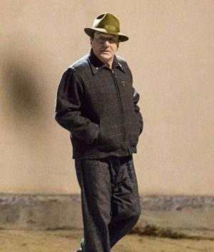 Frank Sheeran The Irishman Robert De Niro Checkered Wool Jacket