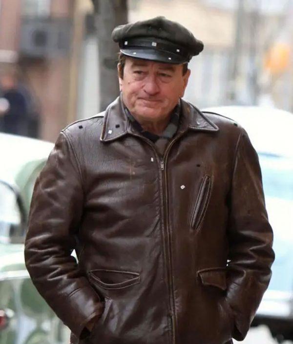 Frank Sheeran The Irishman Robert De Niro Brown Leather Jacket