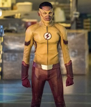 The Kid Flash Wally West Yellow Leather Jacket