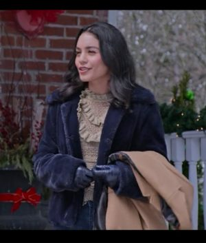 The Knight Before Christmas Brooke Vanessa Hudgens Shearling Blue Jacket