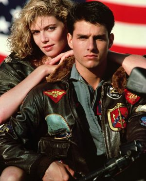 Tom Cruise Maverick Top Gun Black Leather Jacket