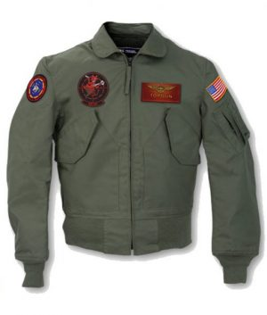Tom Cruise Top Gun 2 Maverick MA-1 Flight Bomber Patched Leather Jacket