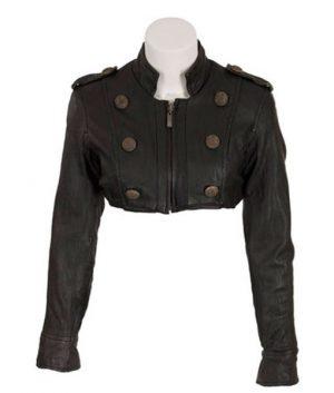 Callisto X-Men The Last Stand Dania Ramirez Black Cropped Jacket