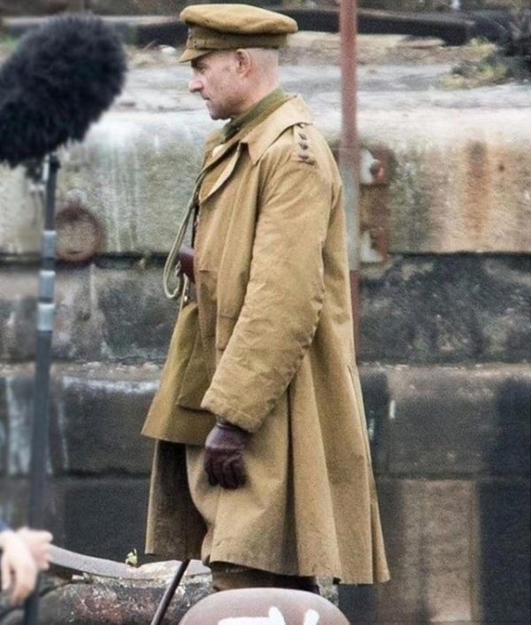 1917 Movie Mark Strong Brown Trench Coat