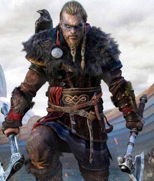Assassin's Creed Valhalla Eivor Coat With Fur Collar