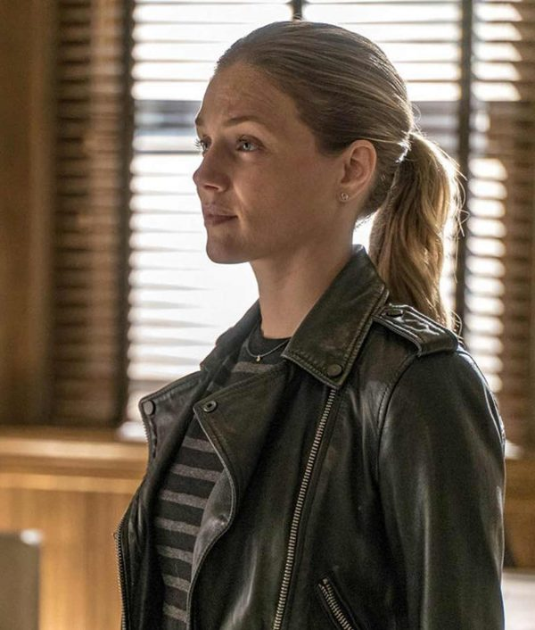 Chicago P.D. S04 Hailey Upton Motorcycle Leather Jacket