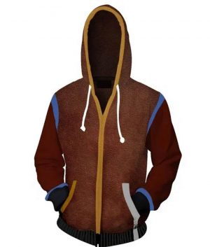 Dying Light 2 Aiden Caldwell Brown Studded Hoodie