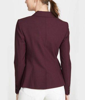 Jessica Davis 13 Reasons Why S04 Alisha Boe Burgundy Blazer Maroon Jacket