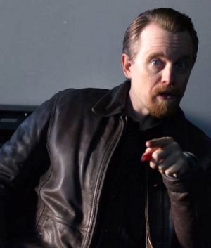 Leslie Peterson Good Girls David Hornsby Brown Leather Jacket