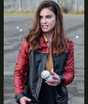 Judith Roddy Black & Red Cafe Racer Ms De Brún Derry Girls Leather Jacket
