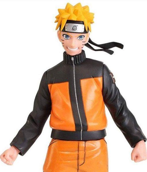 Naruto Shippuden Uzumaki Cosplay Costume Naruto Leather Jacket