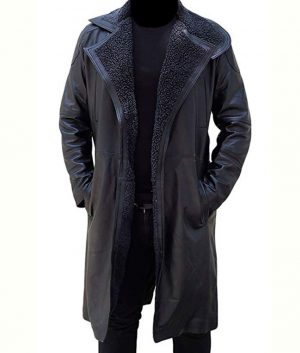 Ryan Gosling Blade Runner 2049 Officer K Green Cotton Fur Shearling Coat